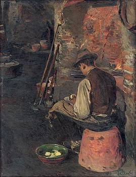 Before dinner, Dominik Skutecky, before 1915 by Vintage Printery