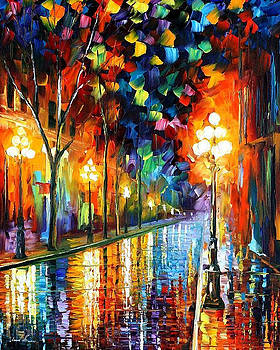Before Morning - PALETTE KNIFE Oil Painting On Canvas By Leonid Afremov by Leonid Afremov