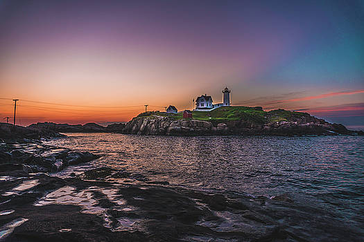 Before Nubble Sunrise by Devin LaBrie