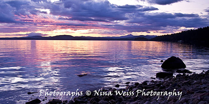 Before Sunrise in Adirondack Park looking towards Vermont-Best Landscape Photography Christmas Gift by Nina Weiss