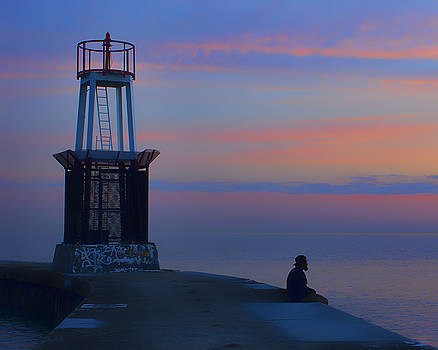 Nikolyn McDonald - Before the Dawn - Hook Pier Lighthouse - Chicago