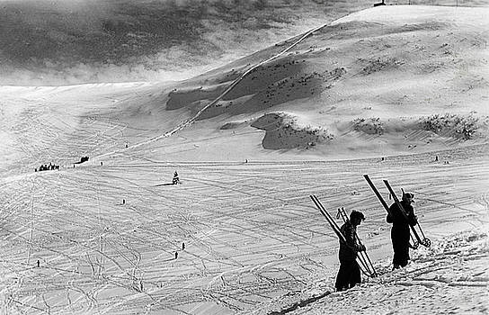 Before WWII, winter 1939 skiers on Monte Bondone, Italy by Luisa Vallon Fumi