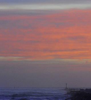 Beginning of sunrise at the jetty 12-27-15 by Julianne Felton