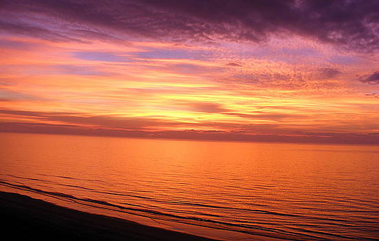 Beginning...New Years Day sunrise at the beach by Elena Tudor