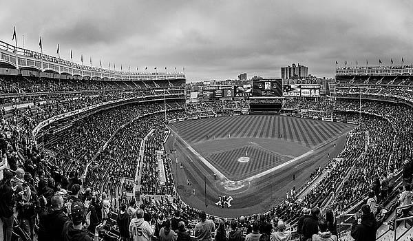 Behind the Plate Yankee Stadium  by John McGraw