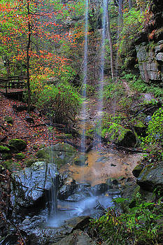 Behind the Waterfall in Rockpile Canyon Missouri by Greg Matchick