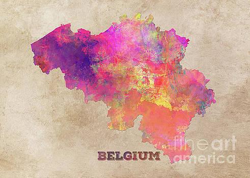 Justyna Jaszke JBJart - Belgium map