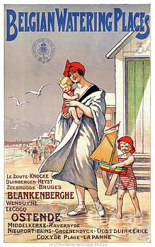 Belgium Ostende Vintage Travel Poster Restored by Carsten Reisinger