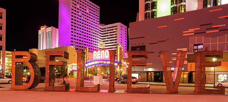 Believe Reno Nevada by Scott McGuire