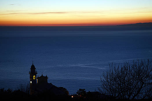 Bell tower over the sea by Andrea Gabrieli