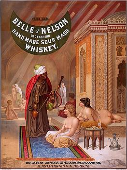 Belle of Nelson old fashion home made sour mash whiskey, advertising poster, 1883 by Vintage Printery