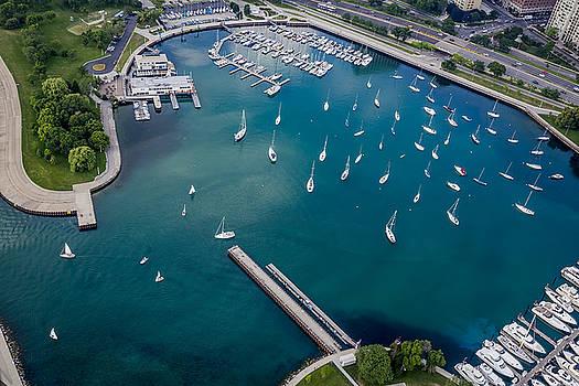 Belmont Harbor by Adam Romanowicz