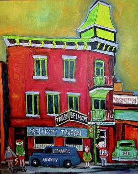 Belmont Tavern Pointe St. Charles Memories by Michael Litvack