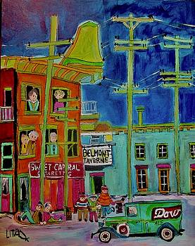 Belmont Taverne Wellington and Bridge in the Point 1937 by Michael Litvack