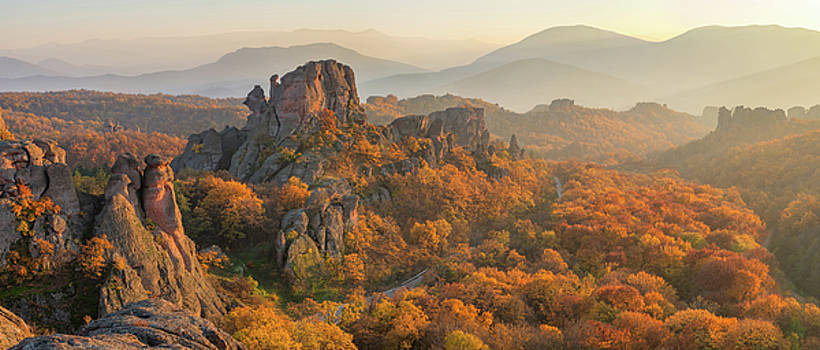 Belogradchik rocks at sunset by Evgeni Ivanov