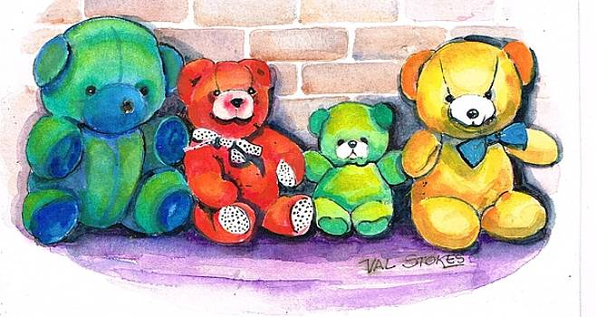 Beloved bears by Val Stokes