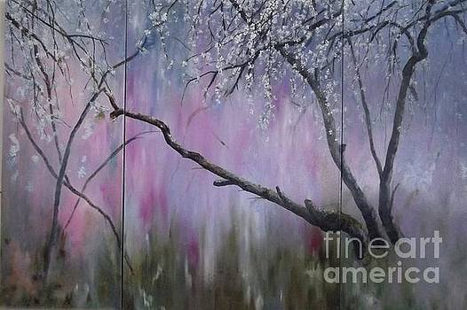 Below the Blooming Blossom Triptych by Lizzy Forrester