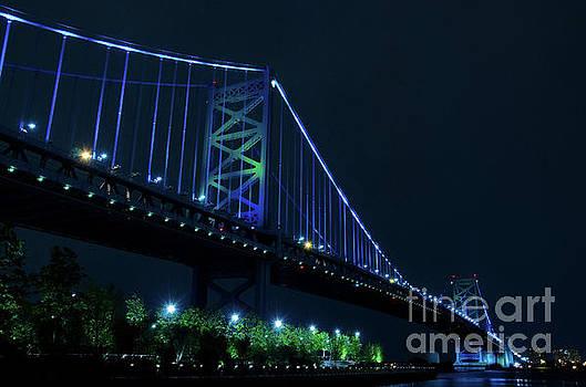 Ben Franklin Bridge Night Photo by Melissa Fague