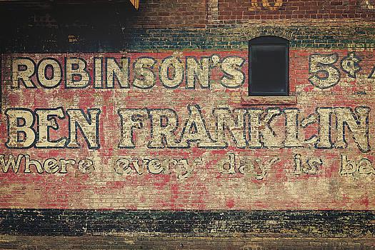 Ben Franklin Vintage Sign by Steven Bateson
