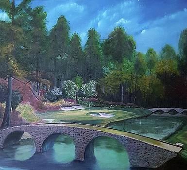Ben Hogan Bridge Hole No. 12 in Atlanta PGA Masters  by Marcel Quesnel