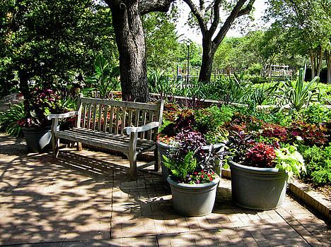 Bench in the Garden by Barbara Kelley