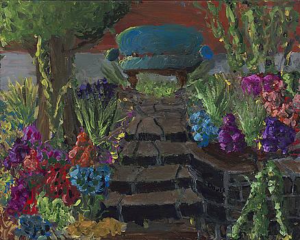 Bench on the Square by Davis Elliott
