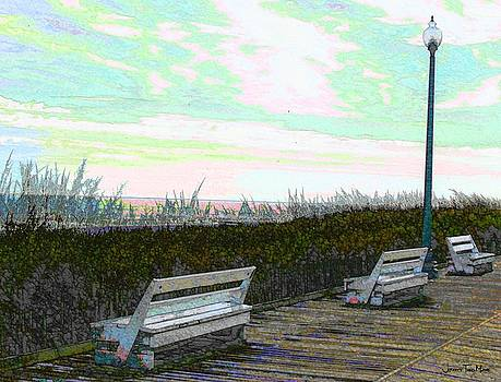 Jeffrey Todd Moore - Benches Boardwalk and Lampposts 2