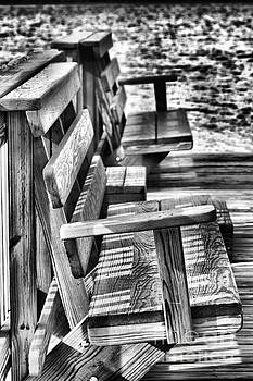 Benches by the Sea by Vickie Johnson