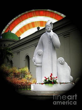 Benevolent Pope John Paul II by Al Bourassa