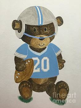 Benny bear football by Tamir Barkan