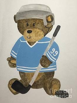 Benny bear hockey by Tamir Barkan