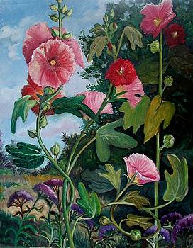 Fran Kelly - Bent Hollyhocks