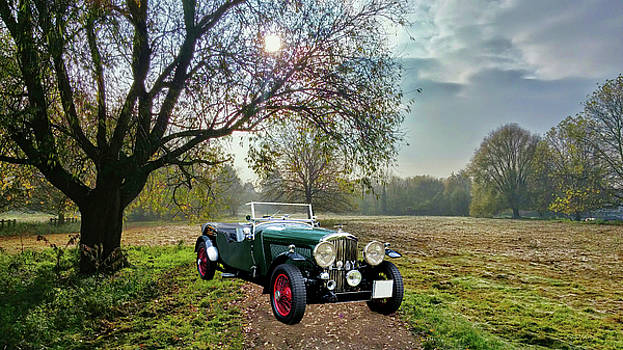 Bentley on a Country Road by Ericamaxine Price