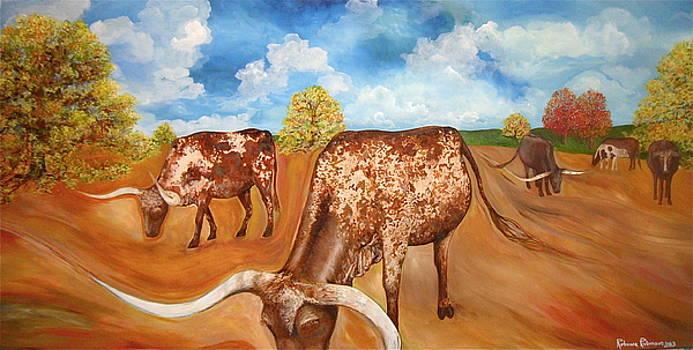 Benton Hwy 165 Longhorns  by Rebecca Robinson