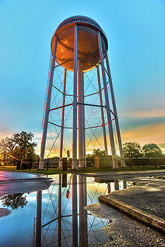 Bentonville Arkansas Water Tower After Rain by Gregory Ballos