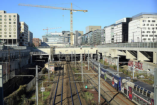 Bercy train station on a sunny day by Virginie Blanquart