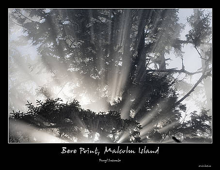 Bere Point Sunrays - Poster by Darryl Luscombe