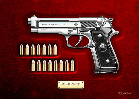 Serge Averbukh - Beretta 92fs Inox Over Red Velvet