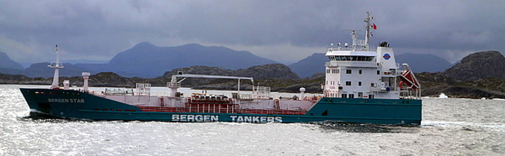 Bergen Star - A Tanker Ship by Laurel Talabere