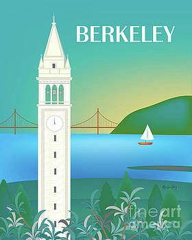 Sather Tower, UC Berkeley, California Vertical Scene by Karen Young