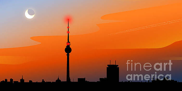 Berlin Skyline by Sandra Hoefer