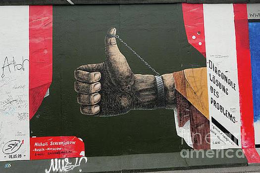 Berlin Wall Thumbs Up by Stephen Schwiesow