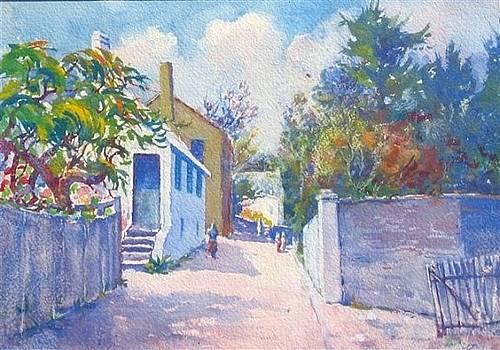 Bermuda Street Scene by WW Harvey