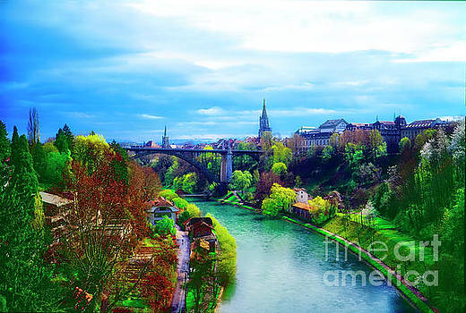Bern Switzerland city view Spring by Tom Jelen