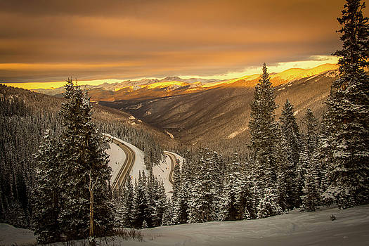 Berthoud Pass Sunset by Colin Collins