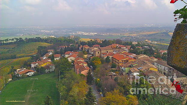 Bertinoro view -Romagna by Italian Art