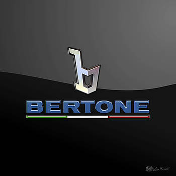 Serge Averbukh - Bertone - 3 D Badge On Black