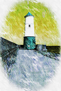 Berwick Lighthouse as Graphic Art. by Paul Cullen
