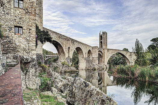 Besalu Romanesque Bridge in Catalonia by Marc Garrido