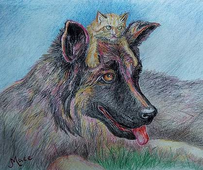 Best Buds or Mutt N Kitty by Joan Mace
